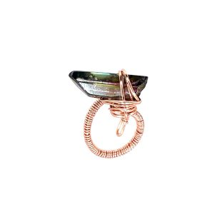 Wrapped Smokey Quartz Ring Laminated Rose Gold Wire