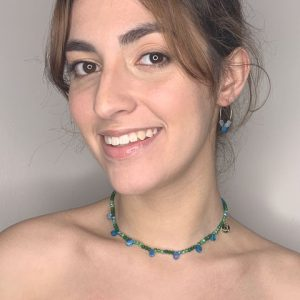Green and Blue Happy Drops Choker