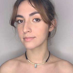 Violet Nacar & Fresh Pearls Water Cultivated Choker