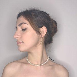 Marina Wrapped Fresh Water Pearls Choker